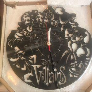 Disney- Villains wall clock (NIB)